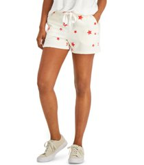 style & co star print drawstring-waist shorts, created for macy's