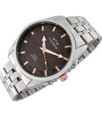 reloj marrón montreal silver
