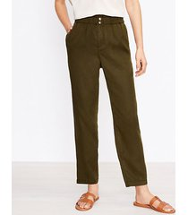 loft tall paperbag pull on pants in soft twill