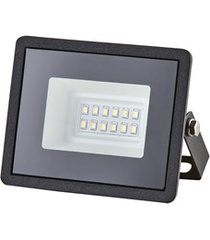 refletor led tech bivolt com luz verde 10w preto