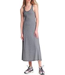 rag & bone women's quinn zip tank dress - black white - size l