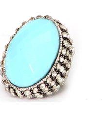 anel lovelee acessã³rios big azul claro - azul - feminino - dafiti