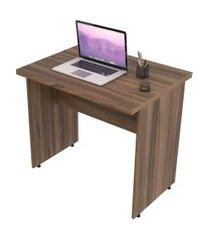 escrivaninha mesa de escritório trevalla 0,80m tampo 30mm nogal