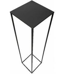 kwietnik metalowy stojący loft 100 cm czarny