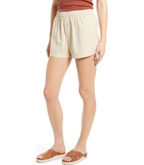 treasure & bond linen blend shorts, size x-small in beige oyster at nordstrom