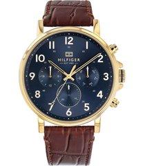 reloj análogo marrón tommy hilfiger