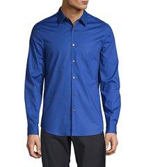 spread-collar long-sleeve shirt