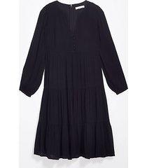 loft tall button tiered midi dress