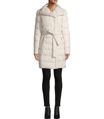 belted puffer coat