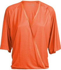 summum 3s4385-30127 318 top wrap short slv lyocell fresh coral rood