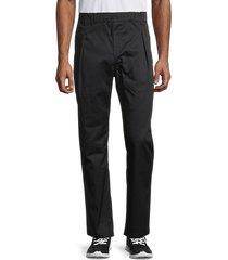 champion men's straight hem pants - black - size l