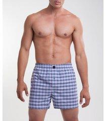 pantaloncillo boxer suelto tejido plano para hombre x2 unds