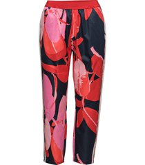 trousers w. branch print & stripe casual broek roze coster copenhagen