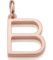 alphabet pendant b, rose gold vermeil on silver