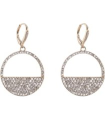 nina cut-out disk pave earrings