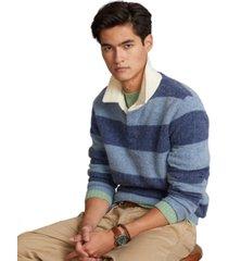 polo ralph lauren men's striped wool rugby sweater