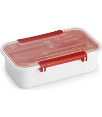 pote plástico com tampa para marmita com porta talher 780ml