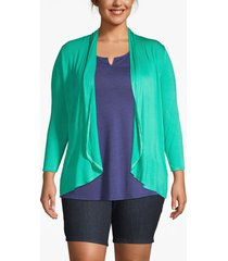 lane bryant women's drape front cardigan 26/28 peacock green