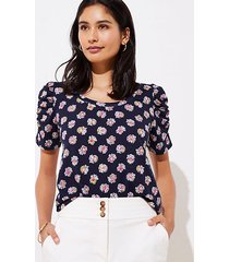 loft bloom cinched sleeve statement tee