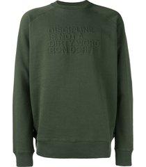 ron dorff embossed sweatshirt - green
