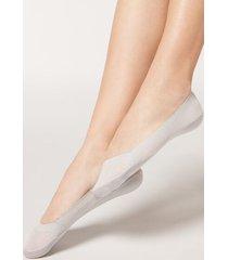 calzedonia fashion invisible socks woman pale grey size tu