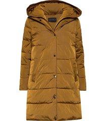 coats woven gevoerde lange jas geel esprit collection