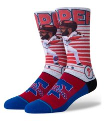 stance men's philadelphia phillies bryce harper big head crew socks