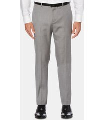 perry ellis men's slim-fit herringbone dress pants