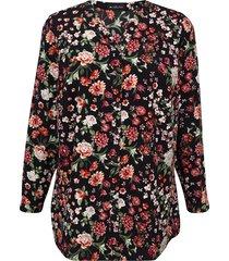 blouse m. collection zwart::multicolor