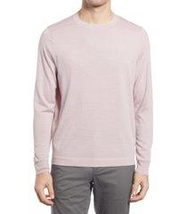 men's nordstrom tech-smart crewneck sweater, size 2xl - pink
