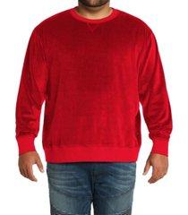 mvp collections men's big & tall velour sweatshirt
