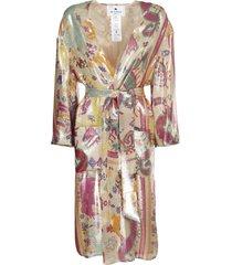 etro silk light coat embellished