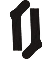 calzedonia long ribbed socks with wool and cashmere man brown size 40-41