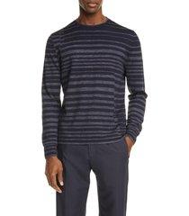 men's ermenegildo zegna nautical stripe wool blend crewneck sweater