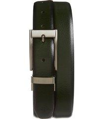 men's ted baker london estrage reversible leather belt, size 30 - dark green