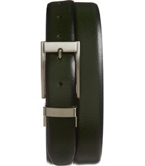 men's ted baker london estrage reversible leather belt, size 32 - dark green