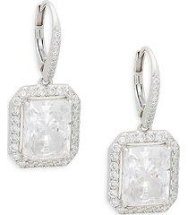 adriana orsini women's rhodium-plated & crystal drop earrings