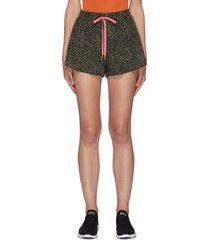 leopard efrem' contrast drawstring shorts