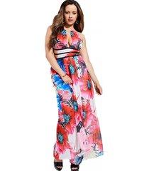 vestido amazing georgette multicolor guess