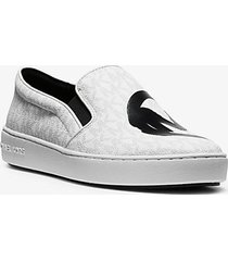 mk sneaker slip-on keaton con logo stampato - bianco (bianco) - michael kors