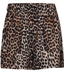 cotton silk shorts flowy shorts/casual shorts brun ganni