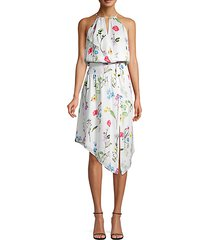 herley smocked waist high-low dress