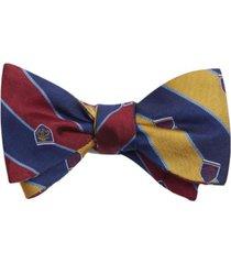corbata reversible rugby stripe burdeo brooks brothers