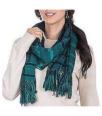 rayon scarf, 'sweet mystique' (guatemala)
