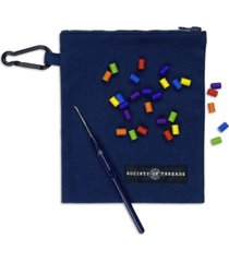 society of threads rainbow mask accessory travel kit pouch