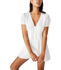 cotton on woven claudia short sleeve playsuit