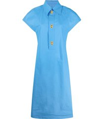 bottega veneta mid-length dress - blue