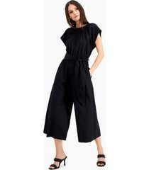 inc wide-leg cotton jumpsuit, created for macy's