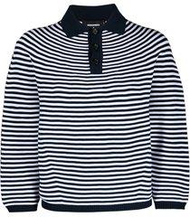 dsquared2 horizontal stripe polo top - white