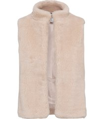 gilet in ecopelliccia (rosa) - rainbow